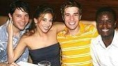 A Chorus Line quartet: Jason Tam, Lauren Latarro, Patrick McGill (Mark) and  James T. Lane (Richie).