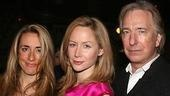 Dodds with Rachel Corrie's team:adaptor Katharine Vinerand adaptor/director Alan Rickman.
