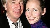 My Name is Rachel Corrie director Alan Rickman was there with his production&amp;#39;s star Megan Dodds.