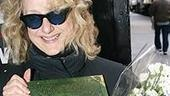 "Carol Kane (the current Madame Morrible) holds up the Wicked book, on sale at ""Wicked Day"". Christmas is coming...."