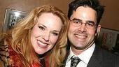 Opening nighters at The Clean House included Broadway fave Emily Skinner. Here with LCT company manager Matthew Markoff.