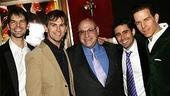 Dreamgirls composer Henry Krieger surrounded by Broadway's Jersey Boys: J. Robert Spencer, Daniel Reichard, John Lloyd Young and Christian Hoff.