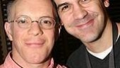 Grinning it up at Sardi's, Drowsycastmates Eddie Korbich and Joey Sorge.