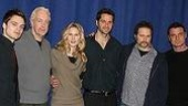 Director Falls (2nd from left) with Talk Radio's 5-star line-up. Sebastian Stan, Stephanie March, Peter Hermann, Erik Jensen and Liev Schreiber