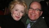 Benefit attendees Holland Taylor and Jack O&amp;#39;Brien give us a supportive smile. 