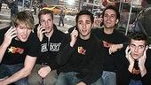 Photo Op - Altar Boyz bless the NASDAQ - Landon Beard - Zach Hanna - Eric Schneider - Carlos Encinais - Kyle Dean Massey (on phone)