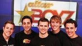 Photo Op - Altar Boyz bless the NASDAQ - Zach Hanna - Eric Schneider - Kyle Dean Massey - Landon Beard - Carlos Encinais
