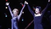 Charlotte d&amp;#39;Amboise &amp; Caroline O&amp;#39;Connor as Roxie &amp; Velma at the 6th anniversary performance of Chicago 