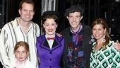 Family night out: Mary Poppins' stars Ashley Brown and Gavin Lee welcome Jack Coleman and his wife Beth Toussaint and their daughter Tess.