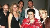Barry and his night callers: Talk Radio castmates Lee Sellars, Christy Pusz, Oliver Vaquer, Liev Schreiber, Barbara Rosenblat and Sebastian Stan.