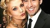 Paulette gives Frankie a peck.Legally Blonde's Orfeh withJersey Boys' John Lloyd Young.