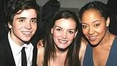 Spring Awakening castmates Matt Doyle, Jennifer Damiano and Lilli Cooper huddle in for a shot at Spotlight Live.