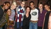 Gloria Estefan with Rent stars Troy Horne, Crystal Monee Hall, Nicolette Hart, Christopher J. Hanke, Andy Senor, Tim Howar and Tamyra Gray. 
