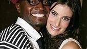 Photo Op - Idina Menzel at Madison Square Garden - Taye Diggs - Idina Menzel -1 