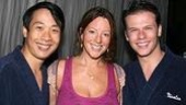 Mary Poppins' Canadian-born players Kevin Samaul Yee and Nicholas Dromard stepped in for a snap with fellow Canadian Sarah McLachlan.