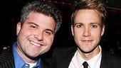 Producer Adam Epstein, who just announced he's reviving Godspell on Broadway this summer, with Christopher J. Hanke, who's featured in Epstein's Broadway-bound Cry-Baby.
