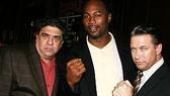 Who needs a bodyguard when you've got friends like these! Chazz pals Vincent Pastore, Lennox Lewisand Stephen Baldwin.