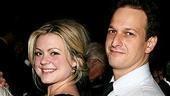 Cute co-stars Kendra Kassebaum and Josh Charles do a lot of flirtin' in The Receptionist.(Well, wouldn't you??)