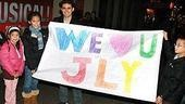 Photo Op - John Lloyd Young Leaves Jersey Boys -  John Lloyd Young (with We Love JLY sign)