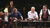 On Broadway in The Seafarer: Jim Norton, Sean Mahon, Conleth HIll, David Morse & Ciaran Hinds