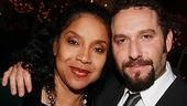 The Queen and her Prince. Phylicia Rashad with Adam Dannheisser, who plays her son in Cymbeline.