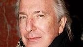 Also spotted: Alan Rickman, soon to be murdered in many multiplexes in Sweeney Todd.
