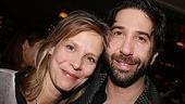August's Amy Morton with David Schwimmer, who has a theater company in their shared windy city.