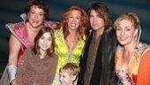Carolee and her kids with Billy Ray Cyrus and Mamma Mia! co-stars Gina Ferrall and Judy McLane.