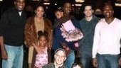 The Rock family gets close to Little Mermaid stars Norm Lewis, Sean Palmer, Tituss Burgess, Eddie Korbich and Trevor Braun.