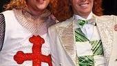 Christopher Sieber and Clay Aiken during his opening night of Spamalot