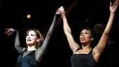 Bianca Marroquin and Brenda Braxton take their bow as Roxie Hart and Velma Kelly.