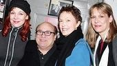 Danny with the ladies: Mariann Mayberry, Deanna Dunagan and Amy Morton.