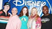 Cast members of Little Mermaid: Tyler Maynard, Eddie Korbich, Sierra Boggess, Sherie Rene Scott and Tituss Burgess gather to celebrate their new cast album.