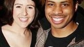 Hairspray alums Alli Mauzey and co-star Chester Gregory II.