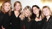 Director Judith Ivey (c.) and playwright Kathleen Clark (r.) with their Soccer Mom stars Caralyn Kozlowski, Nancy Ringham and Deborah Sonnenberg.