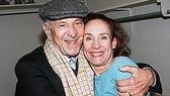Klugman gives November star Laurie Metcalf a squeeze.