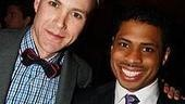 Cry-Baby's Christopher J. Hanke with Chester Gregory II, who also starred as Seaweed in Hairspray.