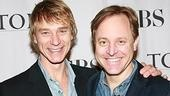 Les Liaisons Dangereuses Leading Actor nominee Ben Daniels with that show's nominated scenic designer Scott Pask.