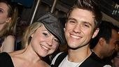 Wicked's current Glinda, Kendra Kassebaum, puts down the wand to kick back with onstage love and Rent alum Aaron Tveit.