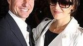 Hollywood heavyweight Tom Cruise beams as he greets his wife, All My Sons star Katie Holmes, after her final dress rehearsal in the show.