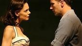 Katie Holmes as Ann Deever and Patrick Wilson as Chris Keller in All My Sons.