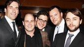 Thank Elisabeth Moss for bringing Mad Men Jon Hamm, Matthew Weiner, Rich Sommer, Michael Gladis and Vincent Kartheiser out in force!