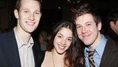 No political maneuvering here: co-stars Dan Bittner, Olivia Thirlby and John Gallagher Jr. are genuine pals on and off stage.