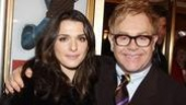Great Brits: Academy Award winner Rachel Weisz catches up with fellow Londoner Elton John.