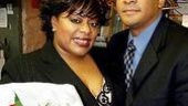 If you're good to Mama: LaVon Fisher-Wilson, here with supportive husband Darrell, didn't just celebrate Chicago's birthday—she also made her show debut. What a night!