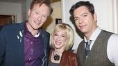 Fresh from performing in a skit where he got a pie in the kisser, Conan O'Brien poses for a cute, celeb-packed pic with Kathy Griffin and Harry Connick Jr.