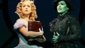Alli Mauzey as Glinda and Marcie Dodd as Elphaba in Wicked.