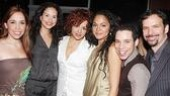 Heights stars Andrea Burns, Mandy Gonzalez, Janet Dacal, Robin De Jesus and Rick Negron surround their gal, Karen Olivo.