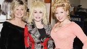 Dolly Parton and sister at 9 to 5 - Rachel Dennison - Dolly Parton - Megan Hilty