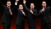 Andrew Rannells, Jarrod Spector, Dominic Nolfi and Matt Bogart in Jersey Boys.
